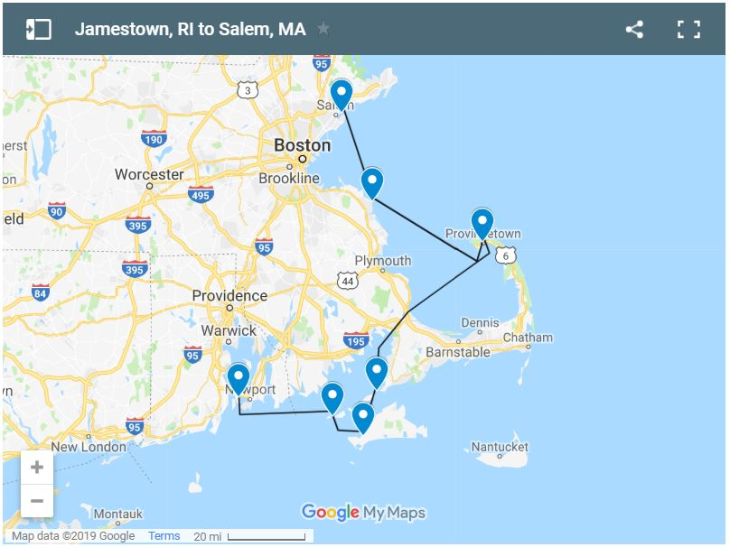 Coastal Passage Making-Jamestown-Salem